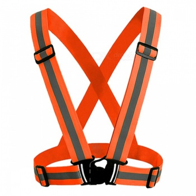 360 Degrees High Visibility Safety Vest Reflective Belt Fit for Running Cycling Outdoor Sports - Orange