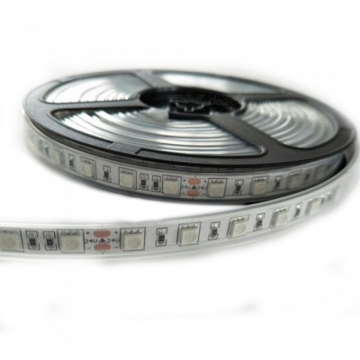 ZHAOYAO 5m Waterproof 60-5050 SMD LED Red Light Flexible Light Strip with Adhesive Tape, DC 24V