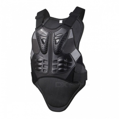 HEROBIKER Motocross Racing Armor, Motorcycle Riding Body Protection Jacket with a Reflecting Strip (L)