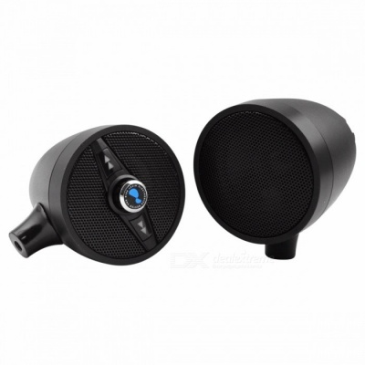 Lexin 3 Inches Motorcycle Bluetooth Speaker w/ Built-in FM Radio - Black
