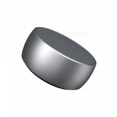BS01 Portable Super Bass Bluetooth Speaker, Metal Steel Mini Wireless Speaker MP3 Player with TF Card Slot - Silver