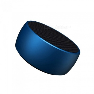 BS01 Portable Super Bass Bluetooth Speaker, Metal Steel Mini Wireless Speaker MP3 Player with TF Card Slot - Blue