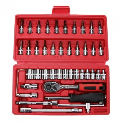 46-Piece Repairing Tool Kit with Storage Box Case