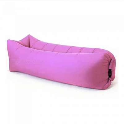 240 x 70cm Outdoors Square Convenient Folding Inflatable Multipurpose Doss Bed 200KG - Pink
