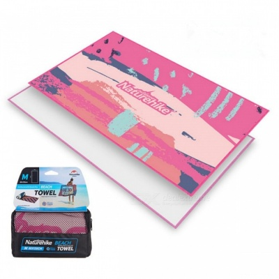 Naturehike Outdoor Travel Quick-drying Bath Beach Towel Tourism Equipment - Pink (L 90 x 180)