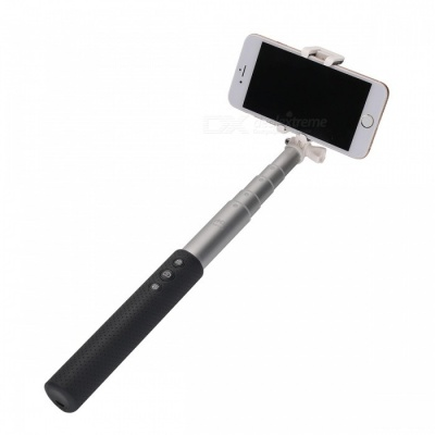 Automatic Wireless Bluetooth Phone Monopod Folding Adjustable Selfie Stick for IPHONE, Samsung, Android - Deep Grey