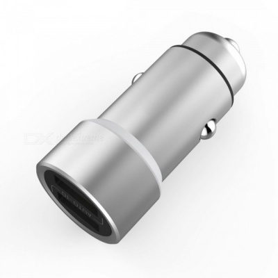 Qjin Fast Charging Car Charger Metal Dual USB Output / 5V 3.6A