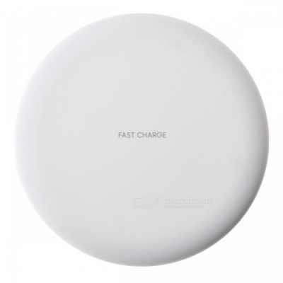 Cwxuan 10W Fast Wireless Charger Stand for IPHONE X 8/8Plus, Samsung S9 S8 S7, Any Qi Standard Phone - White