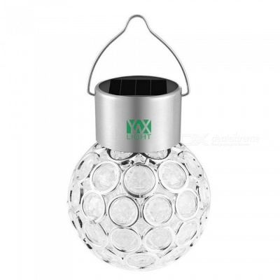 YWXLight Solar Hanging Outdoor Color Changing RGB Crystal Ball Lamp
