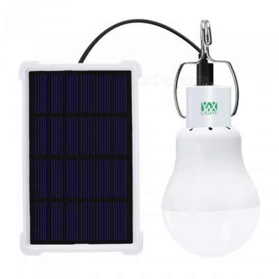 YWXLight 5W Solar Camping Cold White Light Rechargeable LED Sensor Bulb With Panel