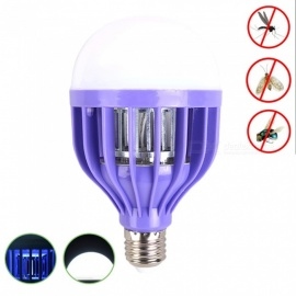 YouOKLight E27 12W 3 Mode Bug Mosquito Zapper 12-2835 SMD LED Light Bulb Insect Fly Killer, Built in Insect Trap