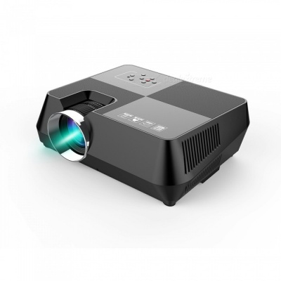"""JEDX S8+ Portable Mini 4.0 """" LCD Home Movie Theater, Wired HDMI Multimedia LED Projector for Android, iOS, PC - EU Plug"""