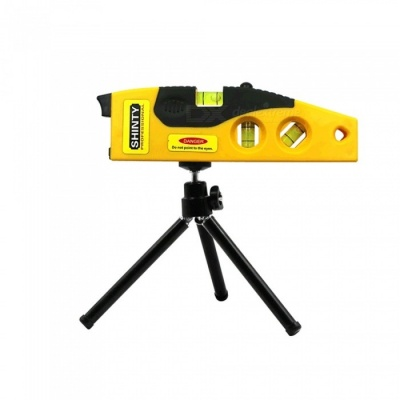 Cross Line Infrared Horizontal Line Instrument Laser Level With Tripod - Yellow