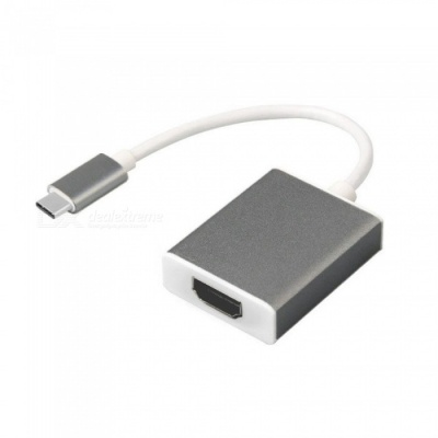 Cwxuan USB 3.1 Type-C to HDMI HD Adapter Connection Cable - Grey