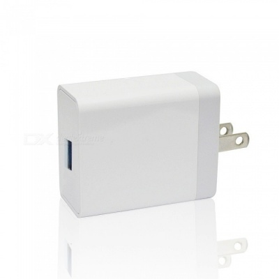 Mini Smile 12w 5V 2.4A Universal Fast Charge Home USB Power Travel Charger Wall Adapter - US Plug
