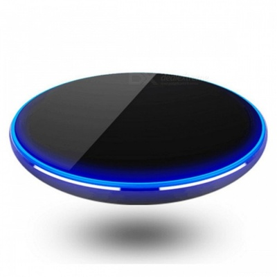 Ultra-Thin Wireless Charger Charging Pad for Mobile Phones - Black