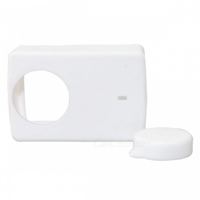 Protective Silicone Case Cover for Sports Camera 4k 4k+ YI Lite - White