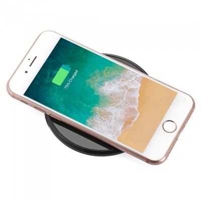 Universal Ultra-thin Wireless Phone Charger Charging Pad - Black