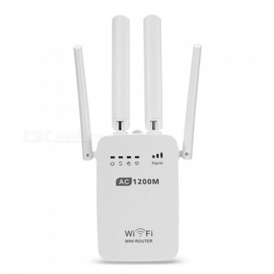 AC1200 Dual Band Wi-Fi Repeater / Router with Access Point Wireless 1200Mbps