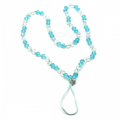 Kelima Creative Hand-Made Round Beaded Hanging Chain for Mobile Phone - Light Blue