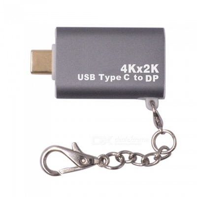 Aluminum Alloy Shell Gold-plated Head USB3.1 Type-C to DP 4K Adapter