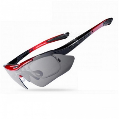ROCKBROS Ultra Lightweight Polarized Sports Men's Sunglasses, Road Cycling Glasses - Red