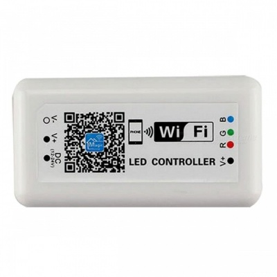 DC12-24V RGB Wi-Fi LED Controller for RGB LED Strip, Applicable to IOS and Android Mobile Phones