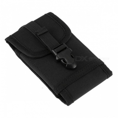 "Universal Outdoor Sports Portable Waist Bag Pouch for 5.5"" Mobile Phone, Camera, IPOD - Black"