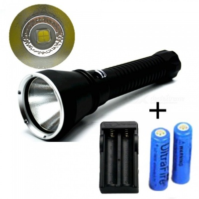 ZHAOYAO XHP70 Professional Diving Flashlight with Battery + Charger for Hunting Patrol Camping Caving Search