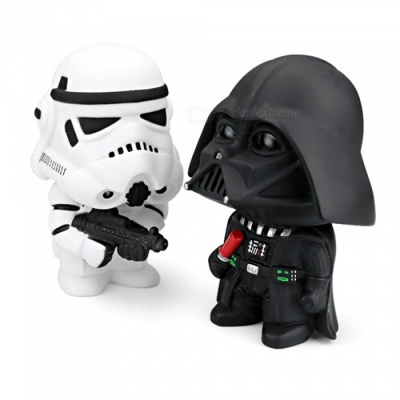 2Pcs Star Wars Dark Knight StromTrooper Soldier Weapons for Car Decoration