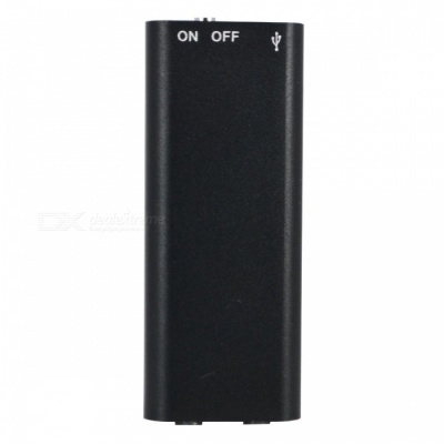 Mini Digital Audio Voice Recorder Stereo MP3 Music Player USB Flash Drive with 8GB Memory Storage - Black