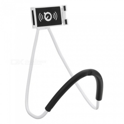 Lazy Bracket Mobile Phone Neck Hanging Stand Holder for IPHONE, Samsung - White