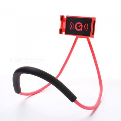 Lazy Bracket Mobile Phone Neck Hanging Stand Holder for IPHONE, Samsung - Red