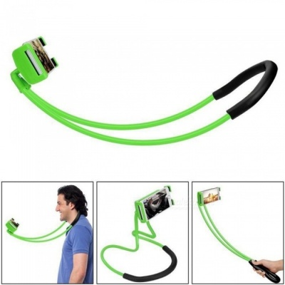 Lazy Bracket Mobile Phone Neck Hanging Stand Holder for IPHONE, Samsung - Green