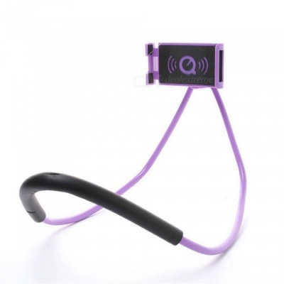 Lazy Bracket Mobile Phone Neck Hanging Stand Holder for IPHONE, Samsung - Purple
