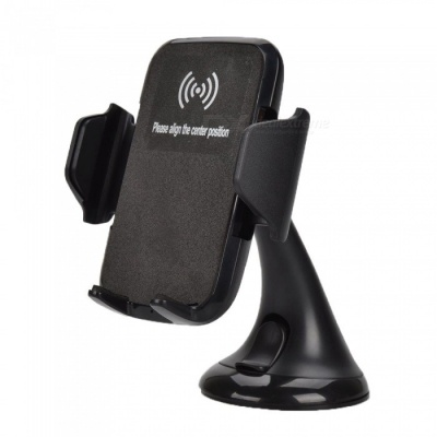 10W Vehicle Mounted Wireless Charger, Charging Dock Holder - Black