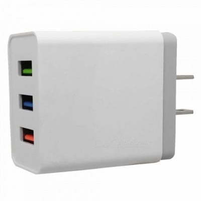 3 Ports USB 5V 2.4A AC Charger for IPHONE 7 / 8 / X / SamSung / HTC / XiaoMi / Huawui