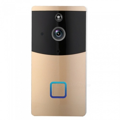 Napok Smart Wi-Fi Video Doorbell w/ 720P HD Security Camera, Real-Time Two-Way Talk and Video - Golden