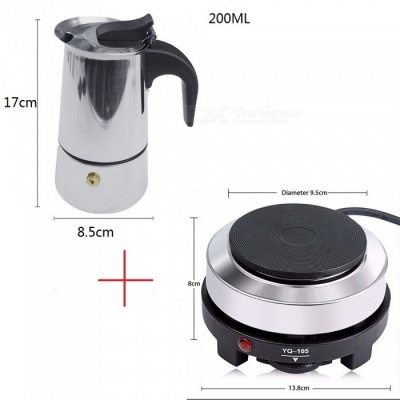 ZHAOYAO 500W 220V Mini Electric Stove Cooking Hot Plate, Multifunctional Coffee Tea Heater for Kitchen