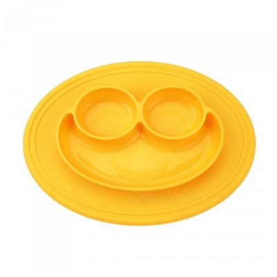 Babykin Super Suction Medical Grade Silicone Kid Children Tableware Bowl for Baby Infant Feeding - Yellow
