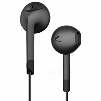 P6 Noise Canceling Headset Earphone, 3.5mm Wired Stereo Earbuds with Microphone - Black