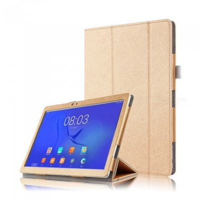 Tablet Case Auto Sleep / Wake Up Function for Teclast T10 - Gold