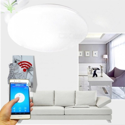 JIAWEN 15W Smart Wi-Fi Phone APP Control LED Ceiling Light Cold White 35cm Diameter AC110~240V