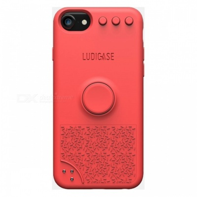 Ludicase Fidget Relieving Spinner Toy Protective Soft Silicone Back Cover Case for IPHONE 6 / 7 / 8 - Tropical Red