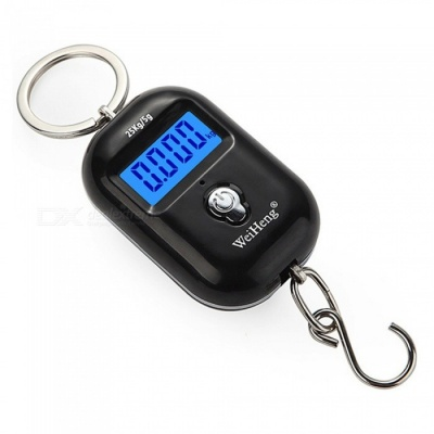 WH-A21 Portable Dual Accuracy Mini Pocket Luggage Digital Electronic Scale 25kg/5g - Black