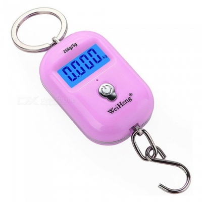 WH-A21 Portable Dual Accuracy Mini Pocket Luggage Digital Electronic Scale - Pink