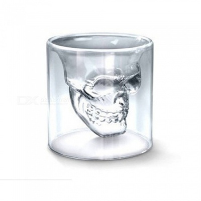 ZHAOYAO Skull Carving Style 150ml Bar Glass Drinking Beer Mug Cups (5PCS)