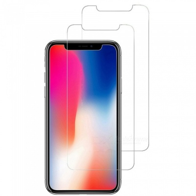 ASLING 2.5D Arc Edge 9H Tempered Glass Screen Film for IPHONE X (2PCS)