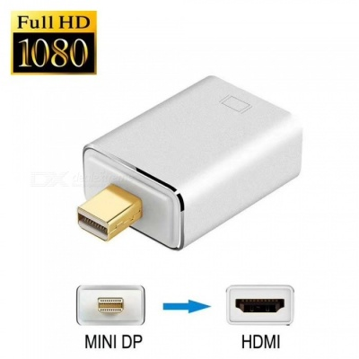 Mini Displayport DP to HDMI Adapter Convertor 1080P for MAC PC - Silver