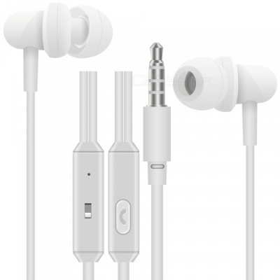 OJADE M500 3.5mm Wired Stereo Bass In-Ear Earphone Headset with Microphone for Smart Phone - White
